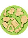 decorare Instrumentul desen animat în formă tort pentru Cupcake pentru Pie Other Ice pentru ciocolată pentru Cookie SiliconDIY #D