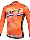 Miloto Maillot de Cyclisme Homme Manches Longues Velo Chemise Shirt Maillot Hauts/Top Sechage rapide Permeabilite a l\'humidite Zip