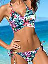 Dame Poliester Bustieră,Bikini Floral Boho Imprimeu
