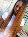 человеческие волосы Remy Полностью ленточные Парик стиль Бразильские волосы Прямой Парик 130% Плотность волос / Волосы с окрашиванием омбре / Природные волосы / 100% ручная работа