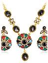 Seturi de bijuterii Lănțișor Cercei Set La modă Euramerican Reșină Ștras Aliaj Round Shape Geometric Shape 1 Colier 1 Pereche de Cercei