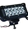 36W ledde bil arbetsbelysning 6000K vit LED-strålkastare för jeep spotlight strålkastare för jeep offroad atv lastbil suv båt dc12-24v