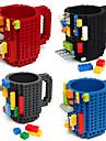 drinkware byggstenar muggar diy blockpusselmugg caneca bygga på tegelsten typ kaffe mug