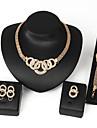 Pentru femei Seturi de bijuterii Diamant sintetic Zirconiu Aliaj Circle Shape Design Circular De Bază Turcă Hip-Hop Punk Religios Nuntă