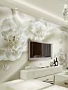 Konst Dekor 3D Bakgrund För hemmet Nutida Tapetsering , Kanvas Material lim behövs Väggmålning , Tapet