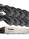 zosi® 8ch DVR 720p hdmi CCTV-systeminspelare 8 st 1280tvl vattentäta kameraövervakningssats för nattvision