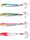4 pcs خدع الصيد موجهات طعم معدن معدن تزلج سريع الصيد البحري طعم الاسماك صيد الأسماك الغزلي / القفز صيد الأسماك / صيد الأسماك في المياه العذبة / باس الصيد / إغراء الصيد / الصيد العام