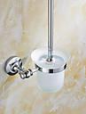 Suport Perie Toaletă Gadget Baie / Oțel inoxidabil Teak /Antichizat