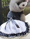 Kat Hond Jurken Hondenkleding Prinses WiZwart Katoen Kostuum Voor Lente & Herfst Zomer Dames