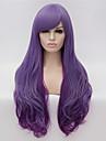 Парики из искусственных волос / Маскарадные парики Естественные волны Омбре Фиолетовый Искусственные волосы Жен. Омбре Парик Длинные Без шапочки-основы