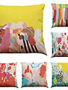 """set de 6 culori graffiti lenjerie de origine birou canapea pătrat decorative pernute (18 """"* 18"""")"""