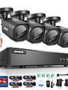 annke® 8ch 720p ahd dvr 4 st 1200tvl hem säkerhet cctv-kameror hd utomhus ir nattövervakningssystem kit