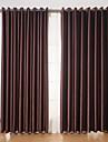 Două Panouri Tratamentul fereastră Modern , Solid Sufragerie Poliester Material perdele, draperii Pagina de decorare For Fereastră