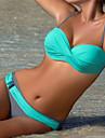 Pentru femei Bikini Bloc Culoare Cu Bretele Briefs Bustieră Fașă Elastică