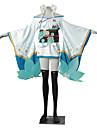 Inspirat de Cosplay Cosplay Video Joc Costume Cosplay Costume Cosplay Kimono Bloc Culoare Jacquard Alb Albastru VerdeKimono Coat Yukata