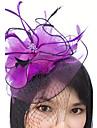 Peří / Síť Fascinátory / Doplňky do vlasů / Birdcage Veils s Květiny 1ks Svatební / Zvláštní příležitosti Přílba