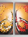 Hang målad oljemålning HANDMÅLAD - Stilleben Moderna Duk