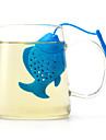 Peștele de silicon face articole de modă de ceai pentru utilizarea zilnică a culorii aleatorii la întâmplare