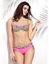 Femei Bikini Femei Cu Susținere Talie Înaltă Push-up / Sutiene cu Bureți / Sutiene cu Întăritură Nailon / Spandex