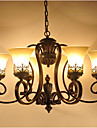 6-Light Candelabre Iluminare verticală - Stil Minimalist, 110-120V / 220-240V Bec Inclus / 15-20㎡ / E26 / E27