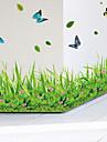 Djur Mode Botanisk Väggklistermärken Väggstickers Flygplan Dekrativa Väggstickers, Vinyl Hem-dekoration vägg~~POS=TRUNC Vägg Glas / badrum