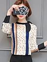 Pentru femei Stand Bluză Muncă Buline Poliester