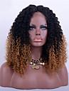 Remy vlasy Krajka vpředu Se síťovanou přední částí Paruka styl Brazilské vlasy Kinky Curly Tónované Paruka 180% Hustota vlasů s dětskými vlasy Ombre vlasy Přírodní vlasová linie Afroamerická paruka
