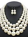 Per donna Perle Parure di gioielli Perla Donne, Euramerican Includere Beige / Caffè scuro / Rosso Per Matrimonio Feste Occasioni speciali Quotidiano Casual Mascherata