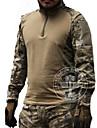 Homme Manches Longues Tee-Shirt de Chasse Tactique Classique Hauts/Top pour Chasse Sport de detente Couleur camouflage M L XL XXL