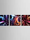 Stretchad Kanvastryck Kanvas set Abstrakt Tre paneler Horisontell Tryck väggdekor Hem-dekoration