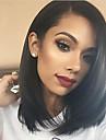 Remy-hår Spetsfront Peruk Rak Yaki 130% Densitet 100 % handbundet Afro-amerikansk peruk Naturlig hårlinje Korta Mellan Lång Dam Äkta