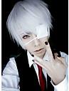 Perruques de Cosplay Masque Tokyo Ghoul Ken Kaneki Argente Court Manga Perruques de Cosplay 26 CM