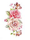 1 Tatouages Autocollants Series de fleur MotifHomme Femme Tatouage Temporaire Tatouages temporaires