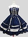 Πριγκίπισσα Γοτθική Λολίτα Βελούδινο Σιφόν Γυναικεία Κοριτσίστικα Φορέματα Cosplay Μέχρι το γόνατο Κοστούμια
