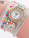 pentru Doamne Ceas La Modă Ceas Brățară Unic Creative ceas Ceas Casual Chineză Quartz / Plin de Culoare Piele Bandă Sclipici Cool Casual