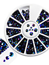 1pcs mode melange brillant resine gelee rhinestone decoration ongle art rond disque brillant colore laser rayon rhinestone diy beaute
