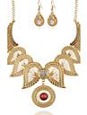 Pentru femei Colier / cercei imitație de diamant Floral Flower Shape 1 Colier 1 Pereche de Cercei Pentru Petrecere Ocazie specială Zilnic