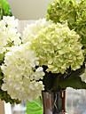 Flori artificiale 1 ramură Stil European Hydrangeas Față de masă flori