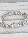 Pentru femei Bratari de tenis Cristal film Bijuterii Cristal Circle Shape Bijuterii Pentru Nuntă 1 Set