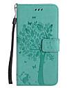 Pentru iPhone X iPhone 8 Carcase Huse Portofel Titluar Card Cu Stand Întoarce Embosat Model Corp Plin Maska Pisica Copac Greu PU Piele