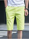 Bărbați Casual Clasic & Fără Vârstă Drept Pantaloni Chinos Pantaloni Mată Culoare solidă