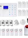 Danmini Cable Systemes d\'alarme domestique GSM Plate-forme GSM SMS / Mobile / Code d\'apprentissage / Panneau de clavier / Telecommande