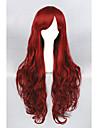 Syntetiskt hår peruker Lockigt Lolita peruk Cosplay Peruk Lång Röd