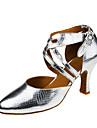 Damă Modern Imitație de Piele Sandale Călcâi Profesional Cataramă Toc Personalizat Argintiu Toc Personalizat Personalizabili