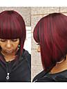 Syntetiskt hår peruker Vågigt Bob-frisyr Med lugg Utan lock Capless peruker Röd
