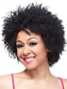 Synthetic Wig Women\'s Curly Black Synthetic Hair Black Wig Short Capless Natural Black