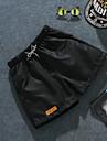 Bărbați Larg Simplu Talie Medie,Inelastic Pantaloni Scurți Pantaloni Culoare pură Supradimensionat