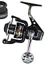 Carrete de la pesca Carretes para pesca spinning 5.5:1 Relacion de transmision+13 Rodamientos de bolas Orientacion de las manos Intercambiable Pesca de Mar / Pesca de baitcasting / Pesca al spinning