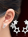 Pentru femei Cristal Cercei Stud - Cristal Αστέρι Argintiu Pentru Cadouri de Crăciun / Nuntă / Petrecere