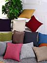 Matiere 12 housse d\'oreiller solide en couleur simple decoration decorative decorative decoration interieure